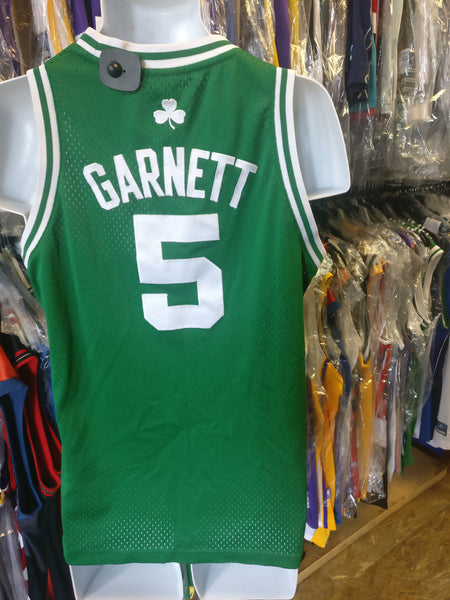 Vintage #5 KEVIN GARNETT Boston Celtics NBA Adidas Authentic Jersey YL