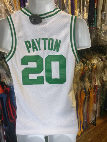 Vintage #20 GARY PAYTON Boston Celtics NBA Reebok Authentic Jersey YM