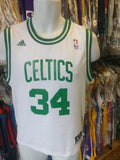 Vintage #34 PAUL PIERCE Boston Celtics NBA Adidas Jersey YM