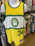 Vtg#34PAUL PIERCE Boston Celtics NBA Reebok Hardwood Classics Jersey M