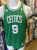 Vintage #9 RAJON RONDO Boston Celtics NBA Adidas Authentic Jersey YL
