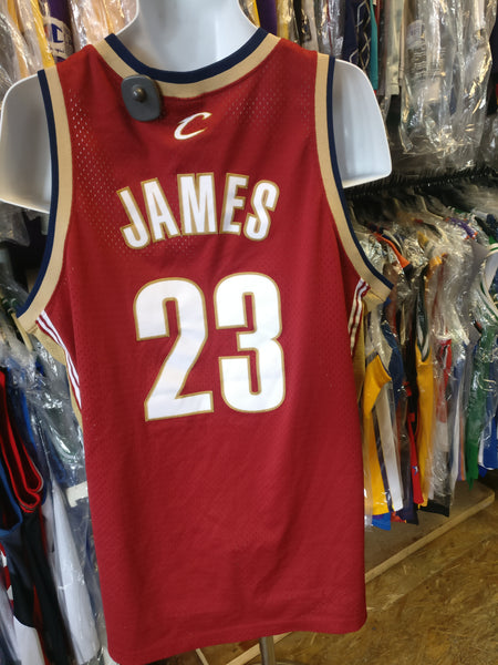 buy online b7459 455d9 Vintage #23 LEBRON JAMES Cleveland Cavaliers NBA Nike Jersey XL
