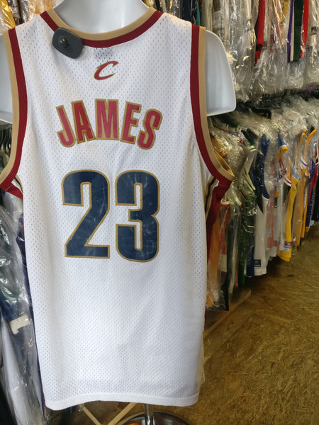Vintage #23 LEBRON JAMES Cleveland Cavaliers NBA Nike Jersey L