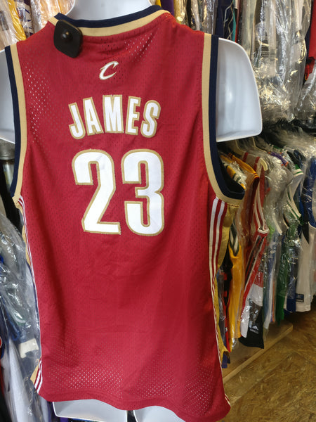 Vtg #23 LEBRON JAMES Cleveland Cavaliers Reebok Authentic Jersey YXL