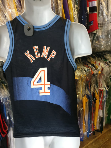 Vtg#4 KEMP Cavaliers #4 WEBBER Wizards Reversible Champion Jersey10-12