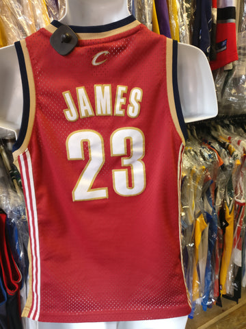 9f76c282a00 Vtg 23 LEBRON JAMES Cleveland Cavaliers NBA Adidas Authentic Jersey YM