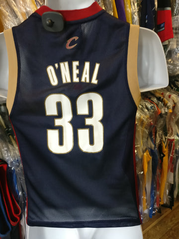 18b011e36 Vintage  33 SHAQUILLE O NEAL Cleveland Cavaliers NBA Adidas Jersey YS