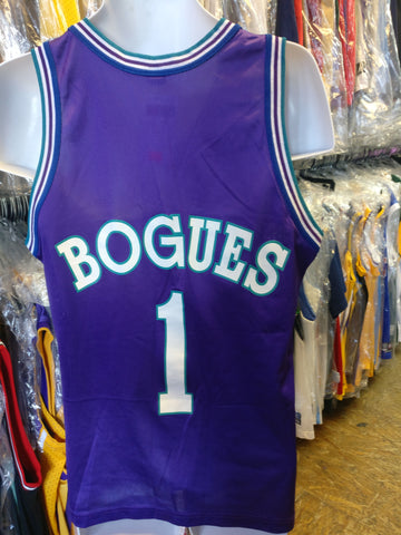 Vtg#1MUGGSY BOGUES Charlotte Hornets NBA Champion Jersey 40(Deadstock)