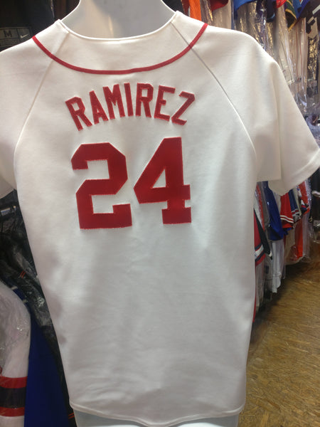 Vintage #24 MANNY RAMIREZ Boston Red Sox MLB Majestic Jersey YXL