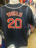 Vintage #20 KEVIN YOUKILIS Boston Red Sox MLB Majestic Jersey 18-20