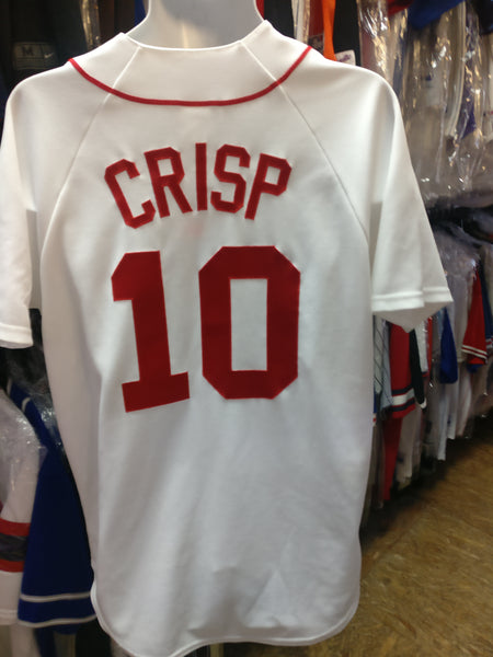 Vintage #10 COCO CRISP Boston Red Sox MLB Majestic Jersey M