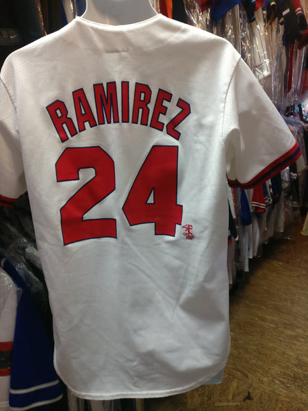 Vintage #24 MANNY RAMIREZ Boston Red Sox MLB Majestic Jersey M