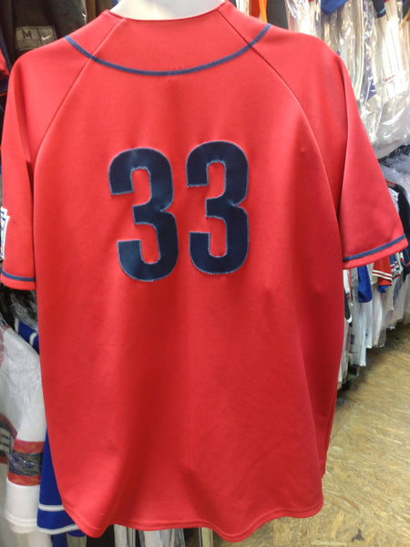 Vintage #33 JASON VARITEK Boston Red Sox MLB Majestic Jersey L
