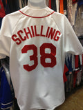 Vintage #38 CURT SHILLING Boston Red Sox MLB Majestic Jersey L