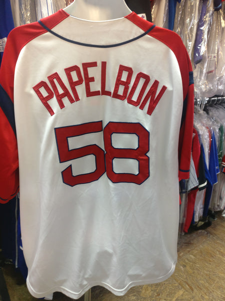 Vintage #58 JONATHAN PAPELBON Boston Red Sox MLB Majestic Jersey XXL