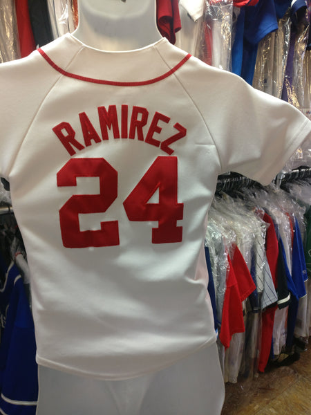 reputable site 00cca ddb54 Vintage #24 MANNY RAMIREZ Boston Red Sox MLB Majestic Jersey YS