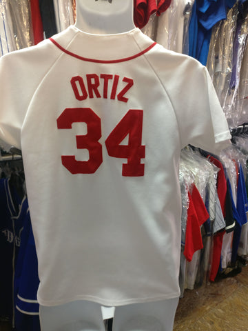 Vintage #34 DAVID ORTIZ Boston Red Sox MLB Majestic Jersey YL
