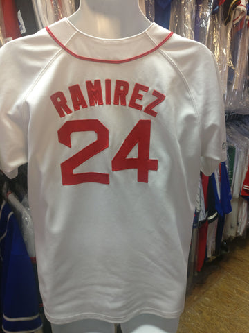 Vintage #24 MANNY RAMIREZ Boston Red Sox MLB Majestic Jersey S