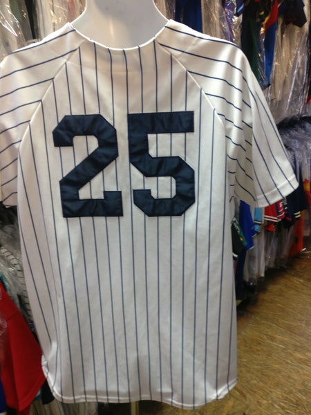 Vintage #25 JASON GIAMBI New York Yankees MLB Majestic Jersey L