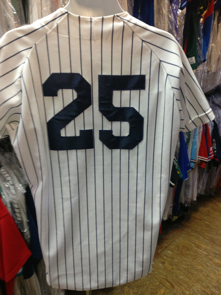 Vtg #25 JASON GIAMBI New York Yankees MLB Rawlings Authentic Jersey 44