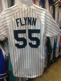 Vintage #55 FLYNN New York Yankees MLB Majestic Jersey M
