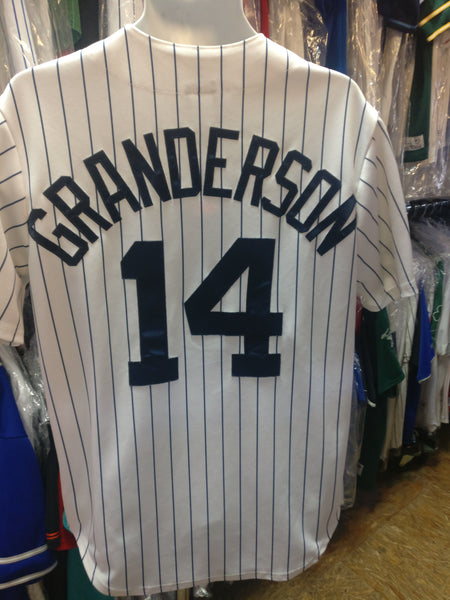 Vintage #14 CURTIS GRANDERSON New York Yankees MLB Majestic Jersey M