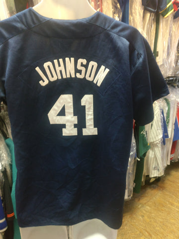 Vintage #41 RANDY JOHNSON New York Yankees MLB Nike Jersey YXL
