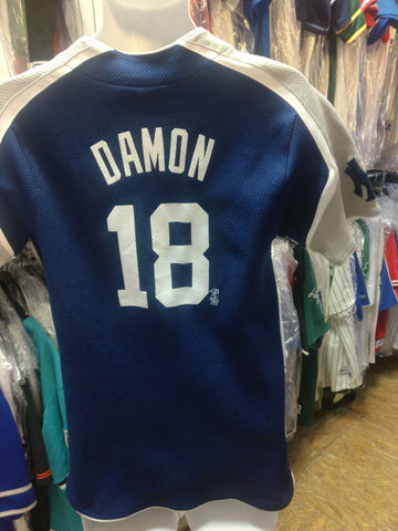Vintage #18 JOHNNY DAMON New York Yankees MLB Nike Jersey YXL