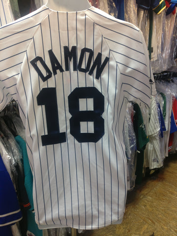 2019a3072cf Vintage  18 JOHNNY DAMON New York Yankees MLB Majestic Jersey S