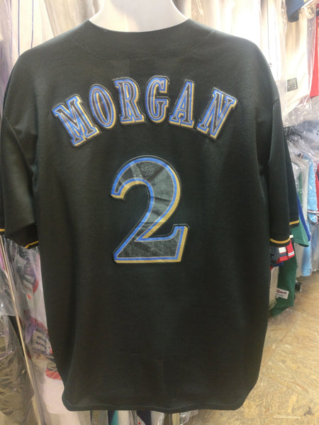 Vintage #2 NYJER MORGAN Milwaukee Brewers MLB Majestic Jersey 52