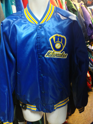 Vintage 80s MILWAUKEE BREWERS MLB Chalk Line Nylon Jacket XL