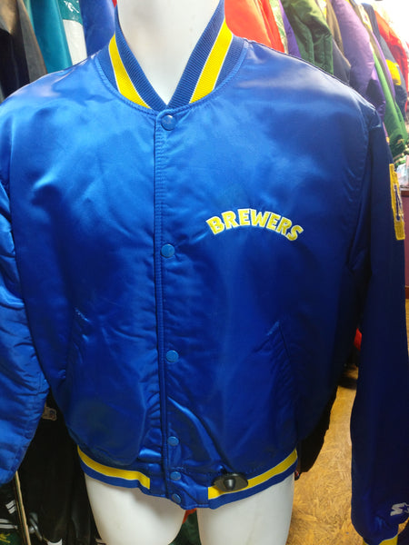 Vintage 80s MILWAUKEE BREWERS MLB Starter Nylon Jacket M