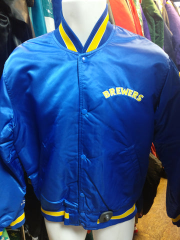 Vintage 90s MILWAUKEE BREWERS MLB Starter Nylon Jacket M