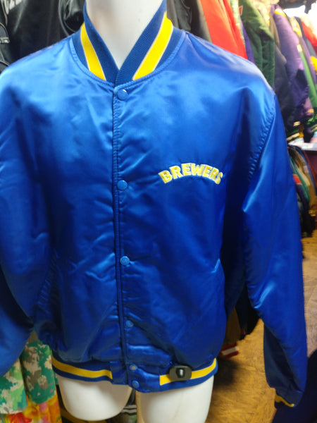 Vintage 80s MILWAUKEE BREWERS MLB Starter Nylon Jacket L