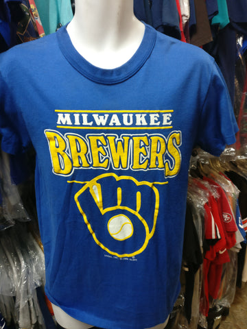 Vintage '88 MILWAUKEE BREWERS MLB Garan T-Shirt L