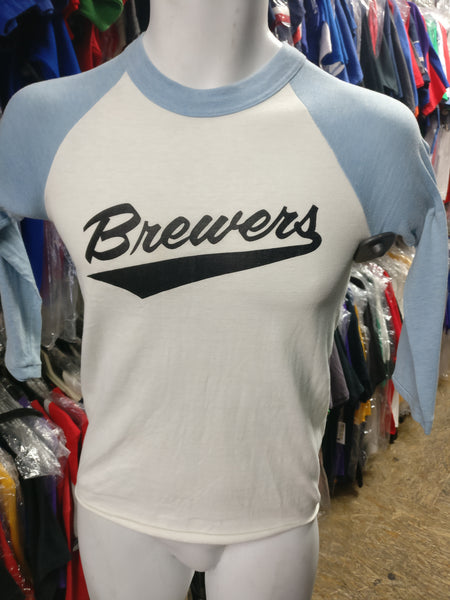 online store 4ea16 b3222 Vintage #7 80s MILWAUKEE BREWERS MLB T-Shirt YL