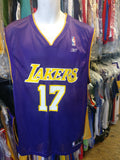 Vintage #17 RICK FOX Los Angeles Lakers NBA Reebok Jersey L