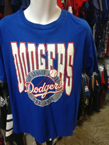 Vintage '90 LOS ANGELES DODGERS MLB Trench T-Shirt XL