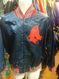 Vintage 80s BOSTON RED SOX MLB Back Patch Pyramid Nylon Jacket M