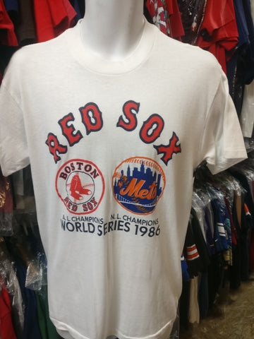 Vintage '86 RED SOX vs METS MLB World Series Touch Of Gold T-Shirt XL