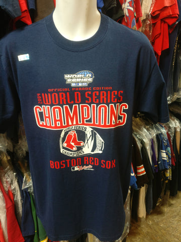 Vtg '04 BOSTON RED SOX MLB World Series Champions T-Shirt M Deastock