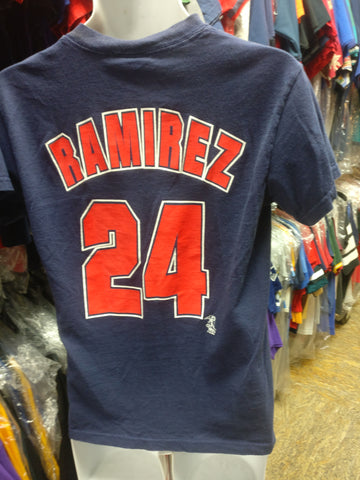 Vintage '04 #24 MANNY RAMIREZ Boston Red Sox MLB Dynasty T-Shirt S