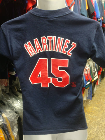 Vtg 2000s #45 PEDRO MARTINEZ Boston Red Sox MLB Majestic T-Shirt YM