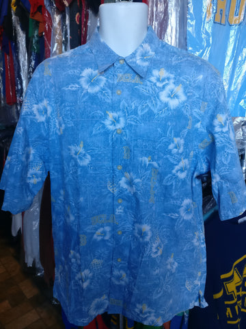 Vintage UCLA BRUINS NCAA Reyn Spooner Cotton Hawaiian Shirt L