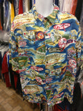 Vintage NEW YORK YANKEES MLB Reyn Spooner Rayon Hawaiian Shirt XL