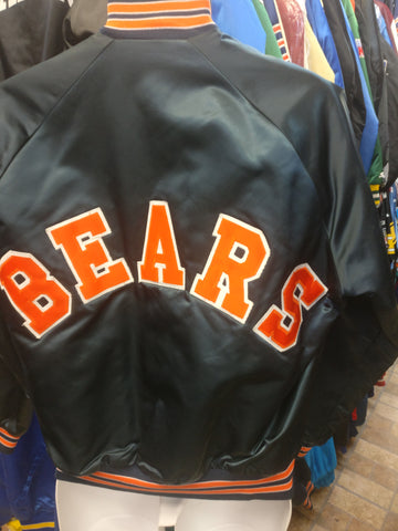 Vintage 80s CHICAGO BEARS NFL Chalk Line Back Patch Nylon Jacket M