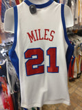 Vtg #21 DARIUS MILES Los Angeles Clippers Champion Authentic Jersey 48