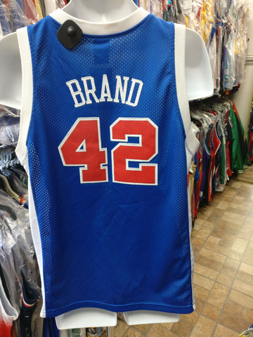 Vintage #42 ELTON BRAND Los Angeles Clippers NBA Nike Jersey YXL