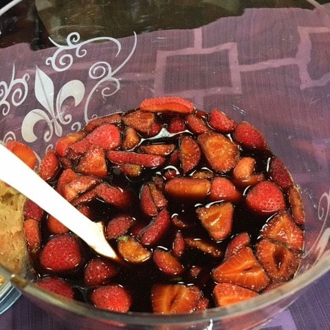 Macerated Strawberries with Vanilla & Strawberry Dark Balsamic