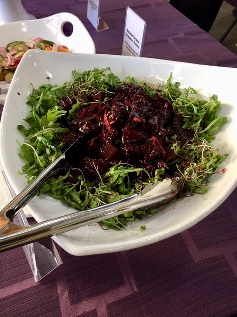 Roasted Beets & Blueberries with Fennel Arugala Salad
